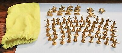 $24.99 • Buy Risk 40th Anniversary Replacement Yellow Gold Soldiers - Set Of 65 Metal Pieces