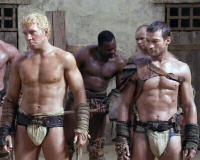 ANDY WHITFIELD Spartacus SHIRTLESS NEW  8X10 GLOSSY PHOTO ZBP 69 • 7.06£