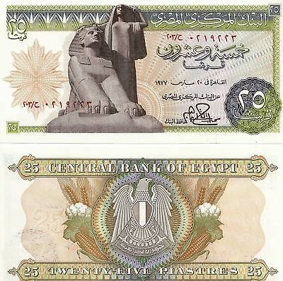 $3.45 • Buy 1977 Egypt 25 Piasters Uncirculated Egyptian Note
