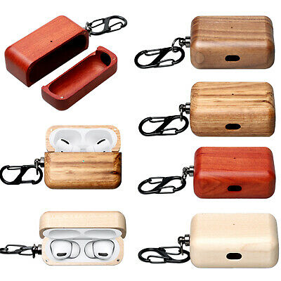 $ CDN14.88 • Buy Wooden Case Charging Box For AirPods Pro Bluetooth Earphone Accessories BS