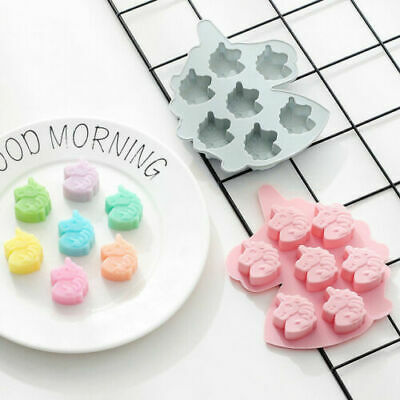 Unicorn Cake Jelly Cookies Soap Mold Chocolate Baking Mould Tray Wax Ice Cube • 2.59£