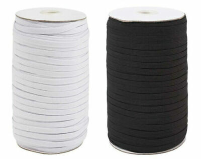 $ CDN9.79 • Buy 200 Yards Braided Elastic Band Cord Sewing Trim String DIY White/Black 1/4 Inch
