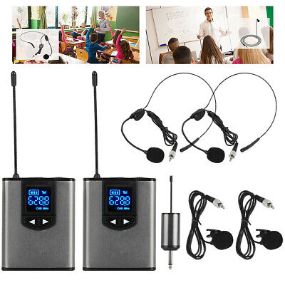 Wireless Headset Lavalier Microphone System For Speaker Video Recording UK • 47.49£