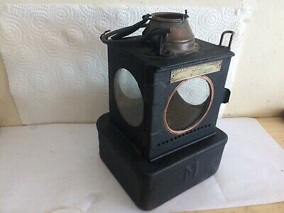 British Railway Eastern Welch Patent Complete Square Oil Signal Lamp C 1950 • 76.87£