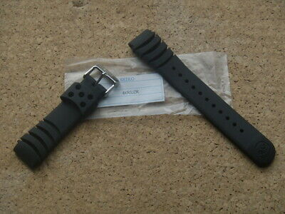 SEIKO 20mm BLACK RUBBER DIVERS WATCH STRAP Z20 4KR3JZR WILL FIT MONSTER 20mm • 32.99£
