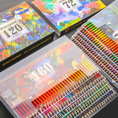 Wood Colored Pencils Set Artist Painting Drawing Oil Color Pastel Art Supplies  • 18.93£