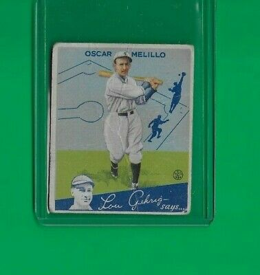 $6 • Buy 1934 Goudey Oscar Melillo  St. Louis Browns #45 🚀😳💥 Low Grade