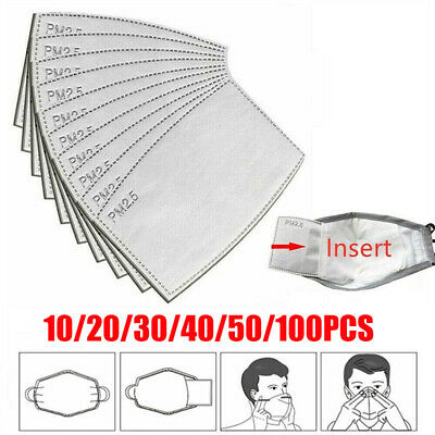 $ CDN23.66 • Buy Breathable Carbon Filter Pad Insert Anti Haze Fog Respirator Carbon Filter Adult
