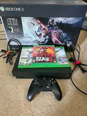 $275 • Buy Microsoft Xbox One X 1TB Star Wars Jedi: Fallen Order Bundle (Used Very Rarely)