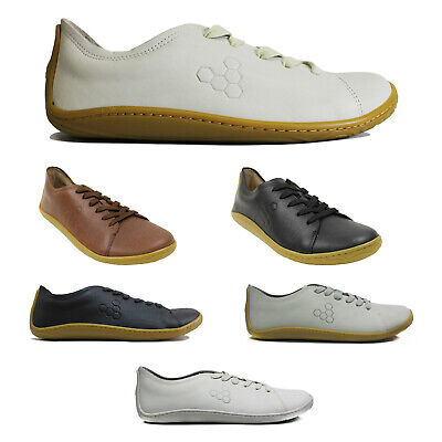 Vivobarefoot Addis Leather Casual Lace-Up Low-Top Sneakers Mens Trainers • 94.52£