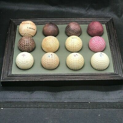 Vintage Golf Ball Display 12 Faux Balls Pheonix Design Wall Plaque Hanger • 34.99£