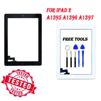 For IPad 2 A1395 A1396 A1397 Screen Black Digitizer Touch Replacement Button IC • 8.99£