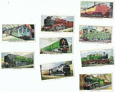 Kelloggs 1962 THE STORY OF THE LOCOMOTIVE Series 1 - Cards X 9  Trains • 1.99£
