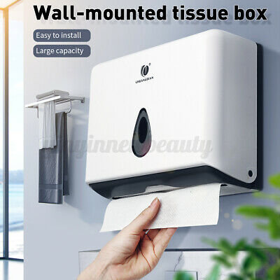 AU21.65 • Buy Wall Mounted Hand Paper Tissue Towel Dispenser Industrial Toilet Holder Rack AU