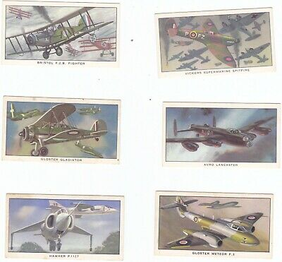 Kelloggs  1963 A HISTORY OF BRITISH MILITARY AIRCRAFT Cards X 6      Aeroplanes • 1.99£