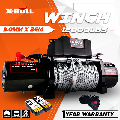 AU419 • Buy X-BULL Electric Winch 12000LBS/5454kg 12V Wireless Remote Steel Cable 4WD 4x4