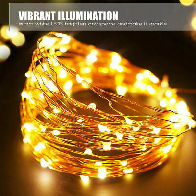 Outdoor Solar String Lights 100-300LED Waterproof Copper Wire Fairy Garden Party • 6.99£