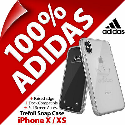 AU39.19 • Buy Adidas Originals Trefoil Clear Snap Case Slim Cover For Apple IPhone X / XS
