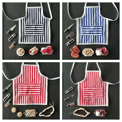 £10.99 • Buy Handmade Miniature 1/12th Scale Dolls House Butchers Apron And Meats Selection.