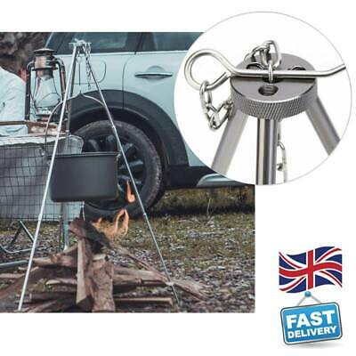 £13.38 • Buy New Outdoor Camping Campfire Cooking Tripod 80cm Camping Equipment Picnic Grill