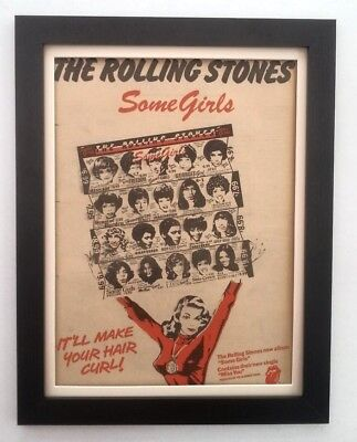 £124.95 • Buy ROLLING STONES*Some Girls*(RED)*1978*ORIGINAL*POSTER*AD*FRAMED*FAST WORLD SHIP