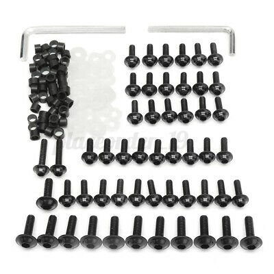 158x Motorcycle Fairing Screw Bolts Clips Kit For Yamaha YZF R6 1999-2002 Black • 11.39£