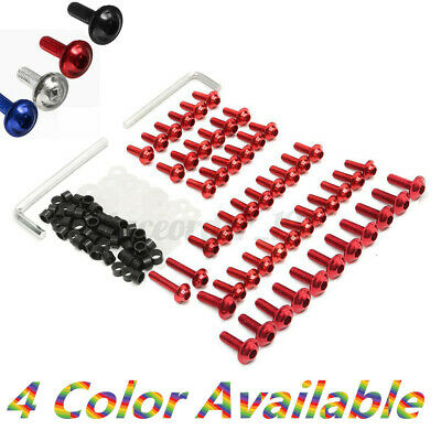 158x Motorcycle Fairing Screw Bolts Clips Kit For Yamaha YZF R6 1999-2002 Red • 11.99£