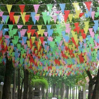 £1.79 • Buy 33 Feet 20 Flags Bunting Banner Multicolored PVC Birthday Wedding Party Decor UK