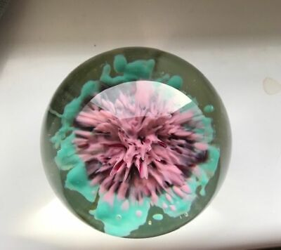 Vintage Strathearn Art Glass Paperweight ~ Original Label. Great Condition  • 38£