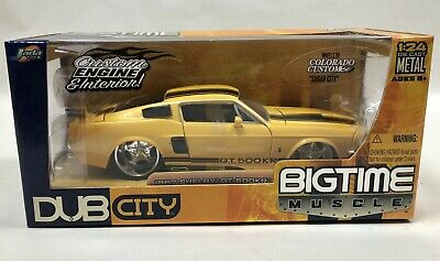 $40 • Buy Jada Toys BigTime Muscle Dub City 1967 Shelby GT-500KR 1:24 Scale Yellow / Black