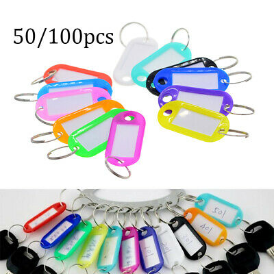 Mixing Colors Plastic Luggage Tag Label Classification Key Ring  Holder Car Set • 4.82£