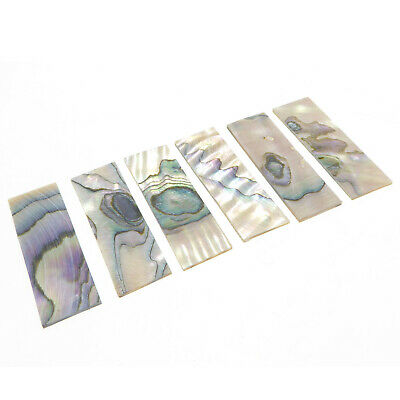 Guitar Fret Board Abalone Shell Inlay , 37mm X 12mm X1mm • 12.95£