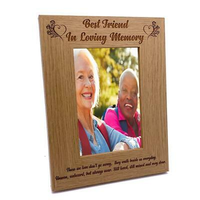 £10.99 • Buy Best Friend In Loving Memory Remembrance Portrait Wooden Photo Frame Gift FW449