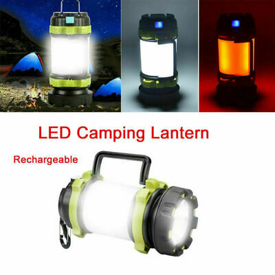AU36.99 • Buy Rechargeable LED Camping Lantern Outdoor Tent Light Lamp & Power For Phone  AU