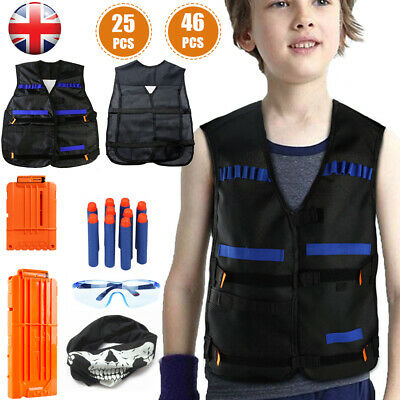 NERF Vest Gun Tactical Kids Jacket GFU For Boys Utility Ammo N Accessories • 12.99£