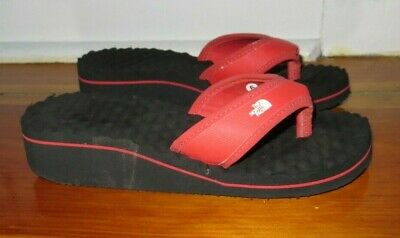 Woman's THE NORTH FACE Red Base Camp Wedge Flip Flops Thong Sandals Size 6 • 14.30£