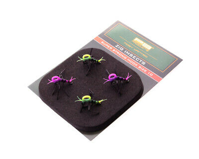 £8.99 • Buy PB Products Super Strong Zig Insects White/Black Size 10 NEW Carp Fishing