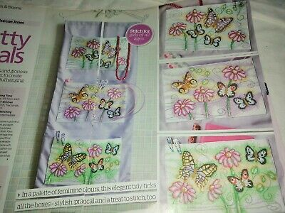 Cross Stitch Chart 3 Butterflies & Blooms  Charts Only Butterfly Flowers • 1.99£