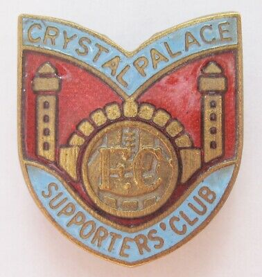 CRYSTAL PALACE - Superb Vintage Supporters Club Enamel Football Pin Badge • 9.99£