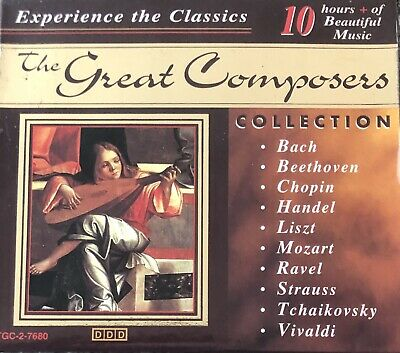 10 CDs - EXPERIENCE THE CLASSICS - THE GREAT COMPOSERS - BACH, CHOPIN, MOZART • 6.49£