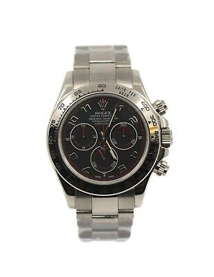 $ CDN39467.42 • Buy Rolex Daytona Black Racing Dial 18K White Gold Watch 116509