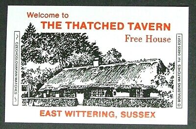 Matchbox Label Bouldens Pub Inn The Thatched Tavern East Wittering Sussex MA856 • 1.69£