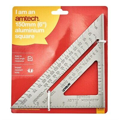 6  150mm ALUMINIUM ROOFERS SET SQUARE ROOFING RAFTER TRI-SQUARE MITRE GUIDE SAW  • 3.49£