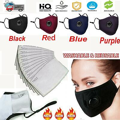$ CDN8.11 • Buy PM2.5 Anti Air Pollution Face Shiled Respirator With Filters Washable& Reusable