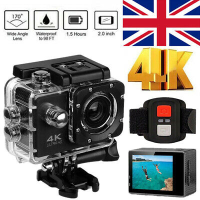 4K Wifi Sports Camera Action Camcorder 1080P DVR Video Recorder Underwater Cams • 22.60£