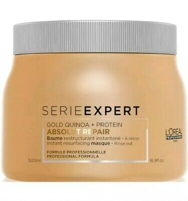 L' Oreal Serie Expert Absolut Repair Gold Quinoa Protein Resurfacing Masque 500m • 18.50£