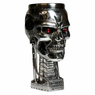 Terminator 2 Head Goblet Chalice Collectors Drinking Glass - Boxed Nemesis Now • 29.99£