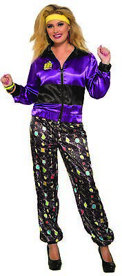 AU35.69 • Buy 80s Track Suit Womens Adult Workout Halloween Costume