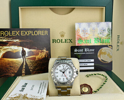 $ CDN13355.37 • Buy ROLEX REHAUT 40mm Mens Stainless Steel Explorer II White Dial 16570 SANT BLANC