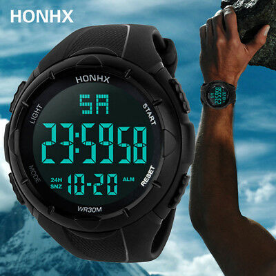 Men Sport LED Waterproof Wrist Watch Military Digital Date Silicone Watches • 6.49£